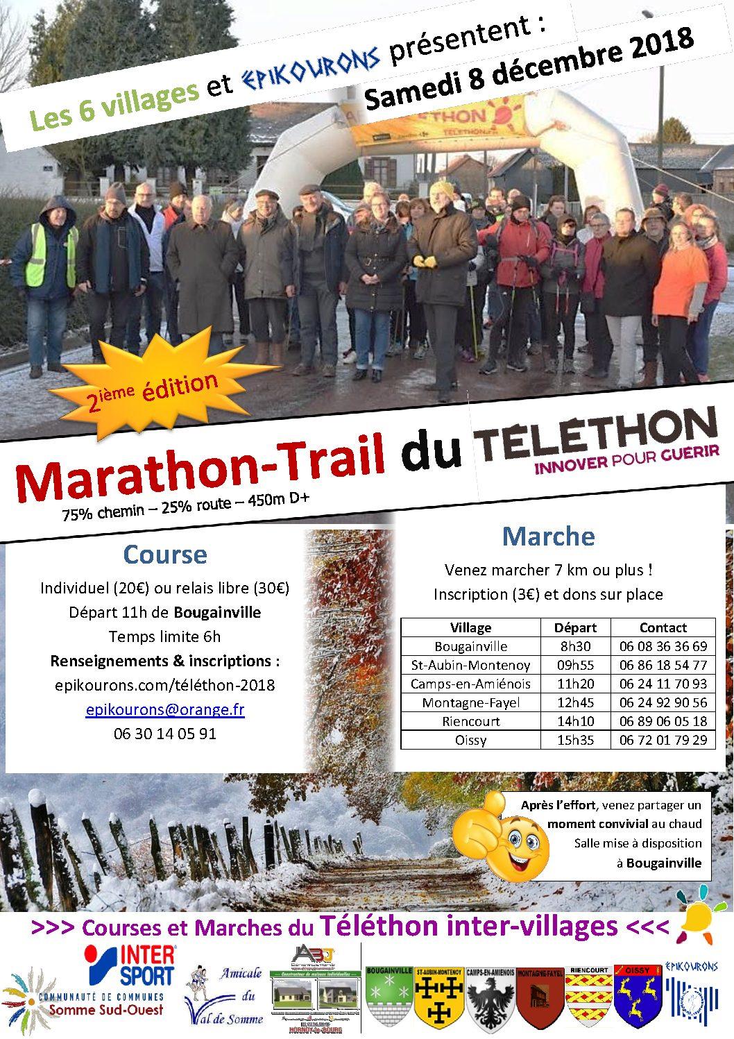 MARATHON-TRAIL du téléthon : Innover pour guérir
